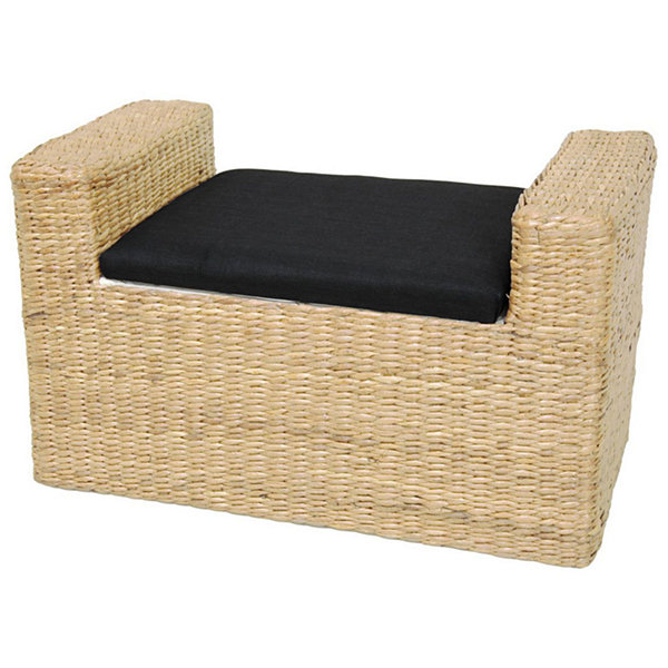 Oriental Furniture Rush Grass Footstool