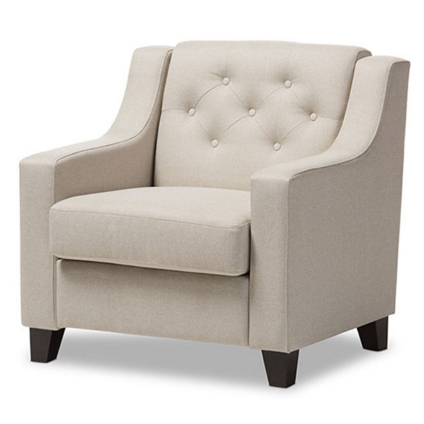 Baxton Studio Arcadia Tufted Club Chair