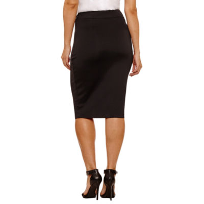 Bold Elements Cross Over Pencil Skirt
