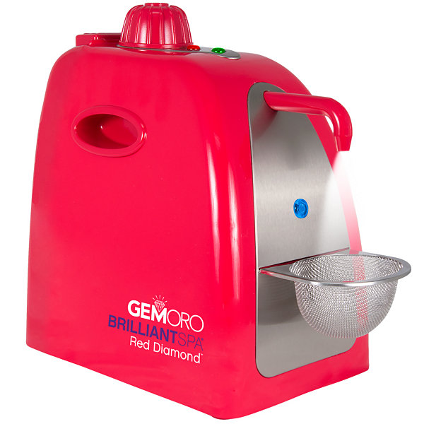 GemOro BrilliantSpa Red Diamond Deluxe Personal Jewelry Steam Cleaner