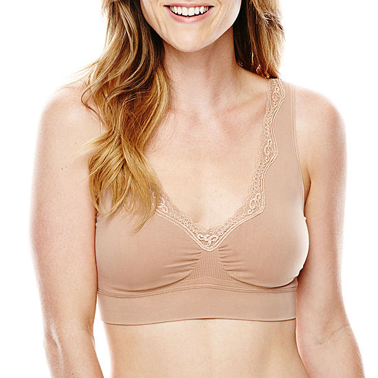 bd565bbbeb4384 Ambrielle Smoothing Solutions Wireless Bralette-141373 - JCPenney