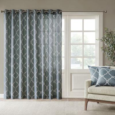 Madison Park Westmont Light-Filtering Grommet-Top Single Patio Door Curtain