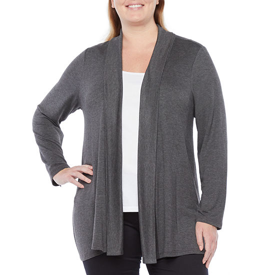 Liz Claiborne Womens Knit Cardigan - Plus