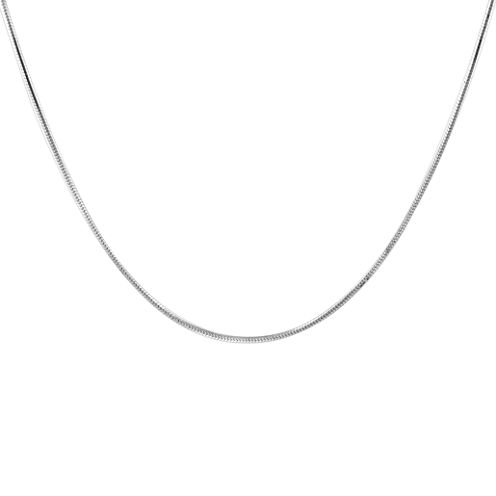 """Made in Italy Sterling Silver 18"""" Snake Chain Necklace"""