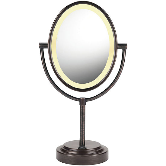 Conair® Reflections Oval Oiled Bronze Double-Sided Lighted Mirror