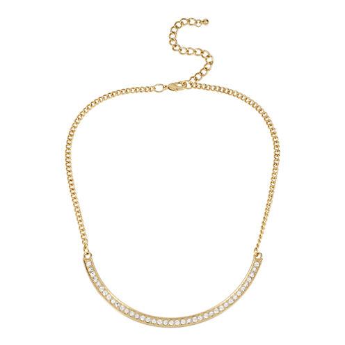 Worthington® Gold-Tone Crystal Collar Necklace