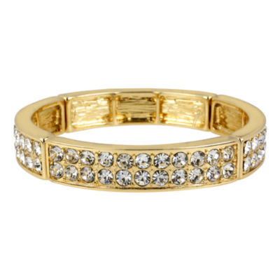 Worthington® Gold-Tone Two-Row Crystal Bangle