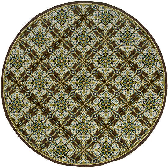 Covington Home Tiles Indoor/Outdoor Round Rug