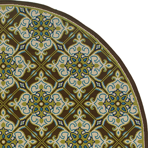 Covington Home Tiles Indoor/Outdoor Round Rug