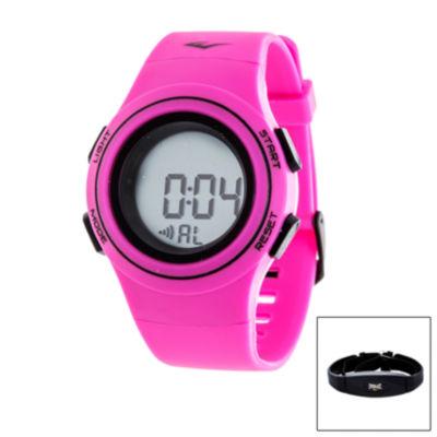 Everlast Womens Pink Heart Rate Watch