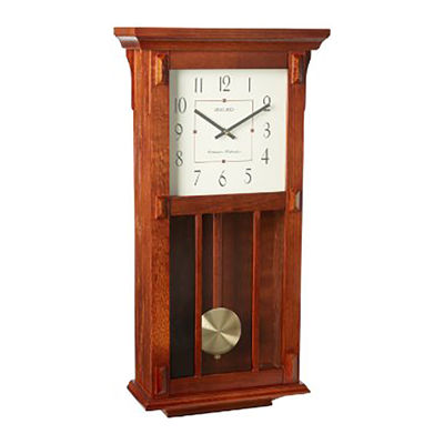 Seiko® Wall Clock With Duel Chimes And Pendulum Brown Qxh045blh
