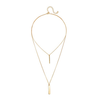 Mixit™ Gold-Tone 2-Row Bar Necklace