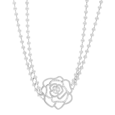 Stainless Steel Flower Bead Necklace