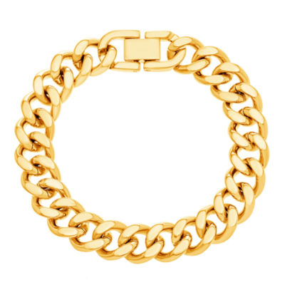 Yellow IP Stainless Steel Curb Chain Bracelet