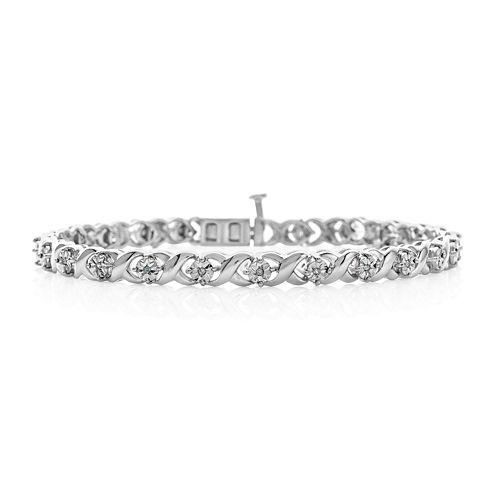 1/10 CT. T.W. Diamond Bracelet In Sterling Silver