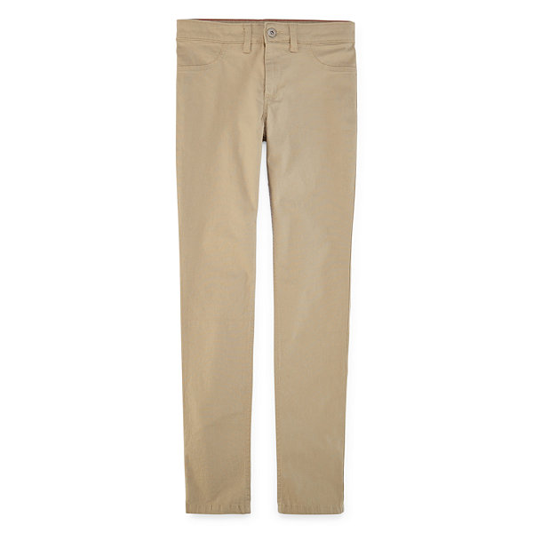 Dickies®Super Skinny Fit Skinny Leg Strech Twill Pants - Girls 7-16