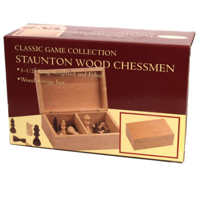 Stauton Wood Chessmen--3.5 King
