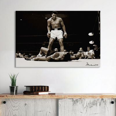 Muhammad Ali Vs. Sonny Liston, 1965 by Unknown Artist Canvas Wall Art