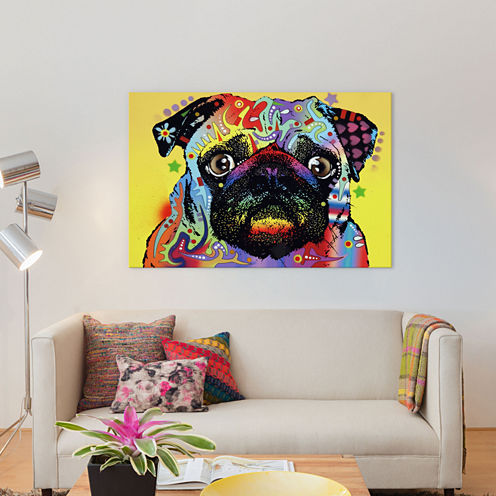 Pug by Dean Russo Canvas Wall Art