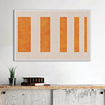 Orange Levies by 5By5Collective Canvas Wall Art
