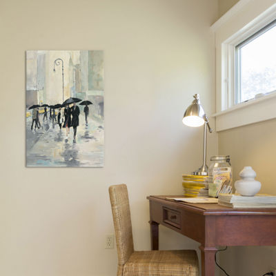 City In The Rain by Avery Tillmon Canvas Wall Art