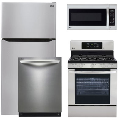 LG® 4-pc. Gas Kitchen Package