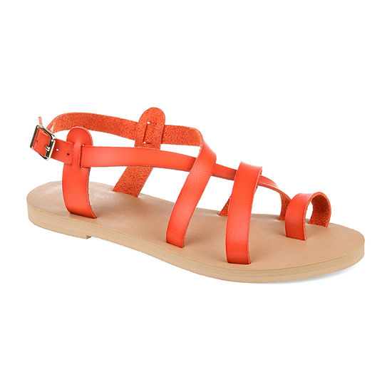 Journee Collection Womens Lucca Ankle Strap Gladiator Sandals