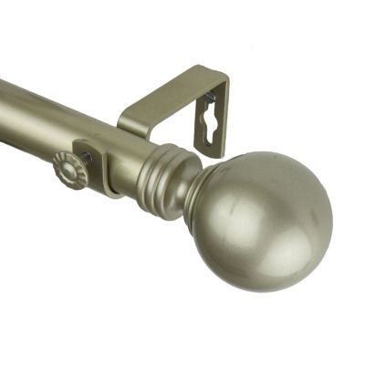 "Rod Desyne Globe 1"" Adjustable Curtain Rod"