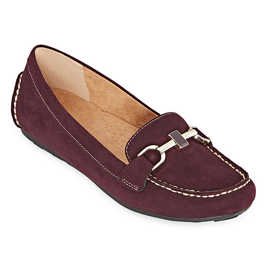 Liz Claiborne Womens Ashton Slip-on Round Toe Loafers