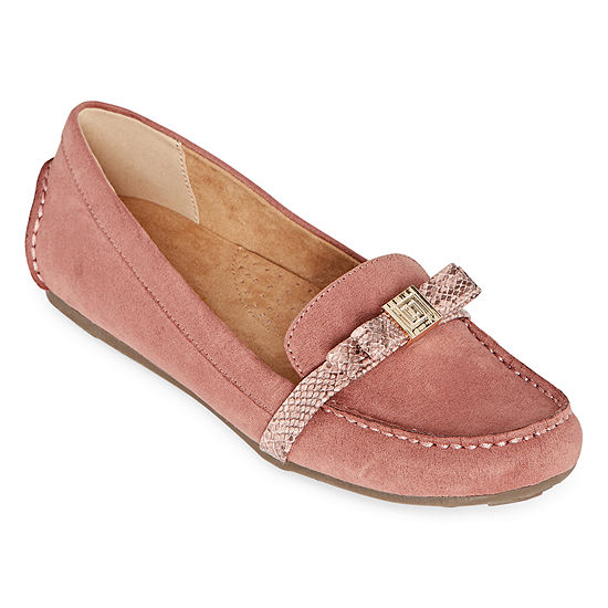 Liz Claiborne Womens Augusta Slip-on Round Toe Loafers