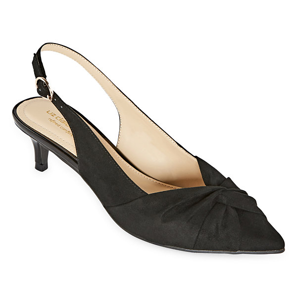 Liz Claiborne Womens Quinlee Pumps Pointed Toe Spool Heel
