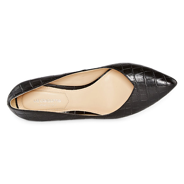 Liz Claiborne Womens Haslett Slip-on Pointed Toe Block Heel Pumps