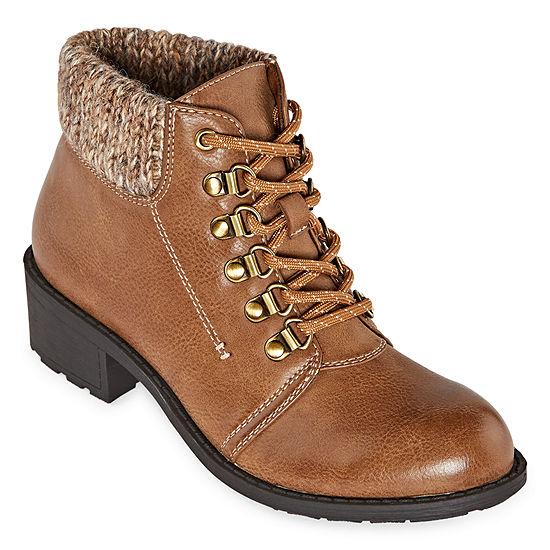 St. John's Bay Womens Dasher Block Heel Booties