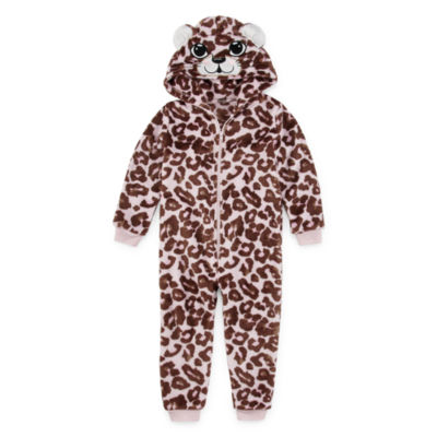 Mommy and Me White Leopard One Piece Pajama - Toddler Girls