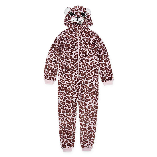 Mommy and Me White Leopard One Piece Pajama- Girls