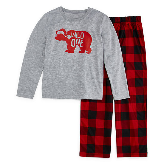 North Pole Trading Co. Christmas Unisex 2-pc. Pant Pajama Set Preschool / Big Kid