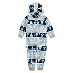 Secret Santa Chill Out Family Unisex Fleece One Piece Pajama Long Sleeve