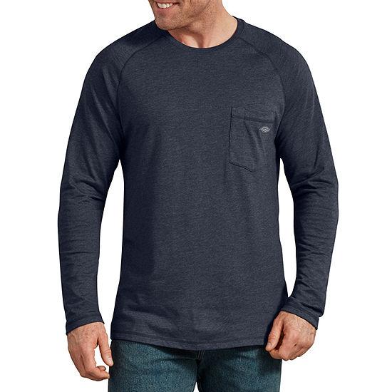 Dickies Tech Smart Temp Mens Crew Neck Long Sleeve Moisture Wicking Cooling T-Shirt