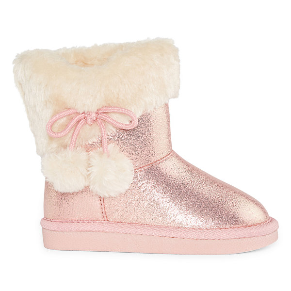 Okie Dokie Toddler Girls Lil Amber Pull-on Winter Boots