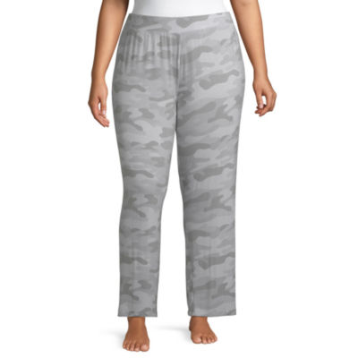 Ambrielle Knit Pajama Pants Womens-Plus