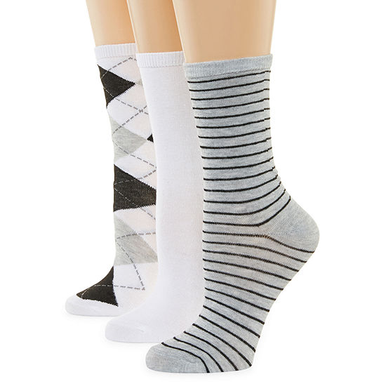 Mixit 3 Pair Crew Socks - Womens