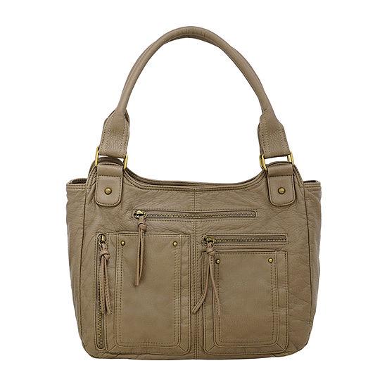 St. John's Bay Grainy Washed Double Shoulder Bag