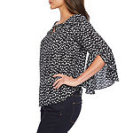 Bold Elements Womens V Neck Long Sleeve Blouse