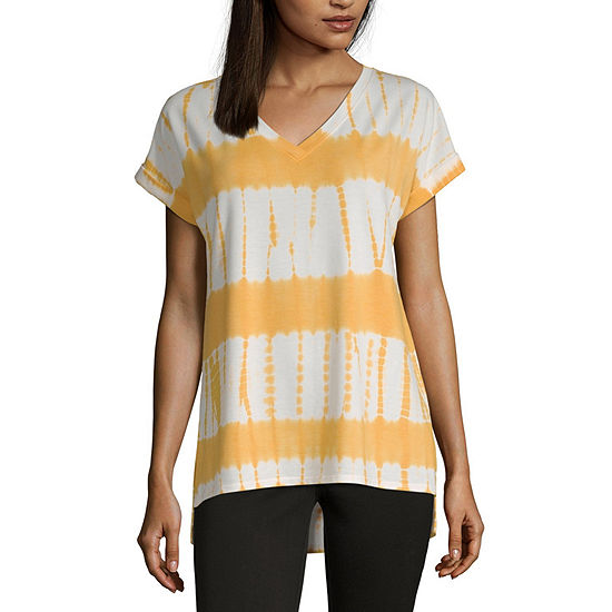 Liz Claiborne Womens V Neck Short Sleeve T Shirt