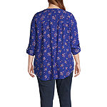 a.n.a-Plus Womens Long Sleeve Relaxed Fit Button-Front Shirt