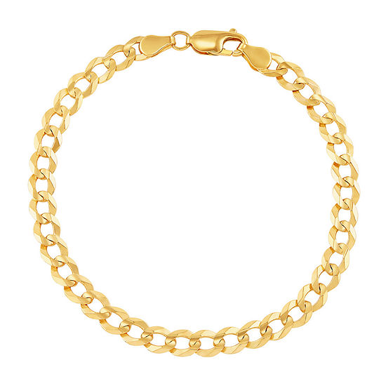 Made in Italy 14K Gold 8 1/2 Inch Solid Curb Chain Bracelet