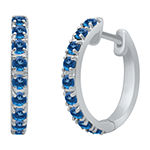 Marvel Universe Fine Jewelry By Marvel Genuine Blue Topaz Sterling Silver 4.7mm Hoop Earrings