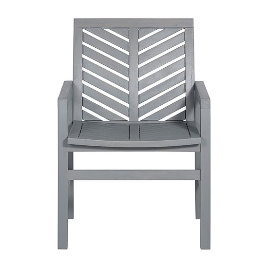 Walker Edison Acacia 2-pc. Patio Dining Chair