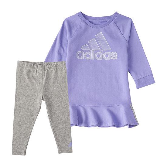 adidas Toddler Girls 2-pc. Pant Set