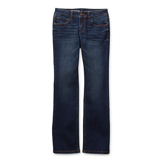 Arizona Little & Big Girls Regular Fit Stretch Bootcut Jean